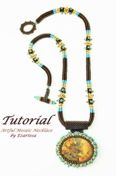 Beaded Necklace Tutorial with Seed Beads and Crystals Artful