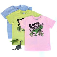 Born to Hunt - Easter Dinosaur Shirt - Dinosaur Easter - Easter Dino Tshirt - Dinosaurs at Easter - Dinosaur Easter Shirt - Boy Easter Shirt Toddler Fashion, Toddler Outfits, Kids Fashion, Spring Fashion, Easter Shirts For Boys, Business Baby, Dinosaur Shirt, Cute Tshirts, Birthday Shirts
