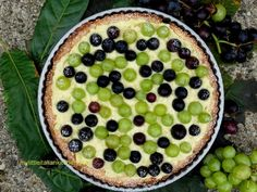 Almond Tart with Grapes