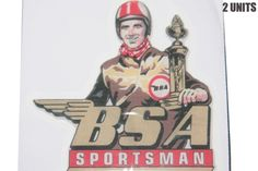 NEW PAIR BSA MOTORCYCLE SPORTSMAN STICKER UNIT Bsa Motorcycle, The Unit, Pairs, Stickers, Baseball Cards, Sticker