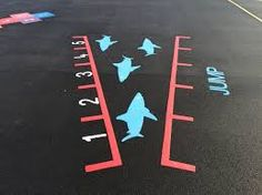 Playground Markings are the perfect, cost-effective way to brighten up your playground. From animals to sports, we have a wide range themes to choose from! Playground Painting, Playground Games, Asphalt Games, Sensory Pathways, Kids Motor, Motor Planning, Activities For Kids, Games For Kids, School Murals