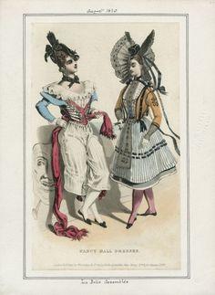 Fancy Ball Dresses from La Belle Assemblee, August 1830. Imagine the Roman carnival!