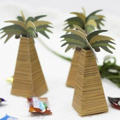 24pcs wedding favor box coconut Palm Tree baby shower favor box wedding accessories decoracion boda wedding favors and gifts