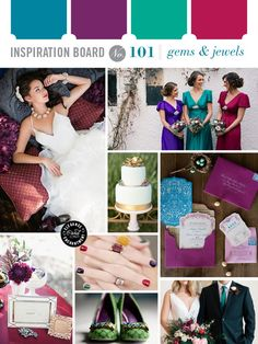 I see some peeks into a blue color in some of your Pins -- how much would you like to incorporate that? Tough to do with flowers, but easy to do with paper, linens, dresses, etc.