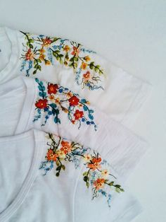 Most up-to-date Free of Charge Embroidery Patterns tshirt Style Stickmuster Salwar Kameez Stickmuster Blatt Stickerei Hand Embroidery Patterns, Embroidery Designs, Embroidery Stitches, T Shirt Embroidery, Leaf Patterns, Floral Embroidery, Geometric Embroidery, Embroidery Sampler, Embroidery Fashion