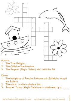Islamic Crossword Puzzle http://easelandink.forumotion.com/t2390-ramadan-magazines-printables