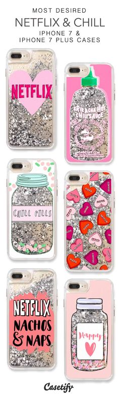 Most Desired Netflix & Chill iPhone 7 Cases & iPhone 7 Plus Cases. More Protective Liquid Glitter Chill Vibes iPhone case here > https://www.casetify.com/en_US/collections/iphone-7-glitter-cases#/?vc=CAIYkbPPPo