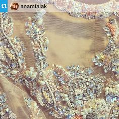 #Repost via @anamfalak ・・・Once upon a time you come across an outfit that screams 'buy me' and you just can't help it. Maybe it's just the beyond gorgeous details! @ammarakhanatelier it was lovely seeing you today, your pieces are stunning and everyone should own atleast one of them! #anammakeup #ammarakhan #hautecouture ✨