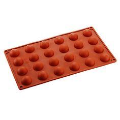 24 semicírculo bolo molde chocolate, silicone 29,8 × 17,4 × 1,5 cm (11,7 × 6,9 × 0,6 polegadas)