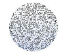 Carl Sagan pale blue dot illustration // art by flapperdoodle, $5.00