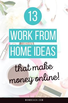 Are you looking for work from home business ideas that make money online? Check out these 13 best work from home business ideas to help you get started and make money anywhere in the world. #makemoneyonline #entrepreneur #workfromhome #homebusiness #smallbusinessowners #workfromhomeideas Work From Home Business, Work From Home Tips, Make Money From Home, Way To Make Money, Business Ideas, Online Business, How To Make, Digital Marketing Business, Digital Marketing Strategy