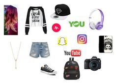 """Vidcon/Playlist 2017 look"" by sammers-mcquiston on Polyvore featuring Frame, Converse, Ollie & B, EF Collection, YOUNOW and Eos"