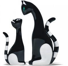Porcelain cat figurines designed by Kazimierz Czuba and produced by Fabryka Porcelany AS Ćmielów (Poland) - 2009