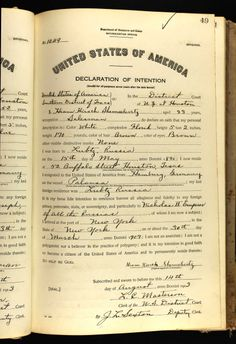 Harry Sampson  Name: Hiam Hirsch Shemselevitz Age: 23 Birth Date: 15 May 1890 Birth Place: Lubtz, Russia Record Date: 14 Aug 1913 Court District: Southern District of Texas Court Place: Houston, Texas, USA Record Type: Declaration of Intention Declaration Number: 1049