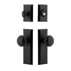 Door Handle Sets, Door Sets, Entry Door Hardware, Door Knobs, Black Entry Doors, Iron Doors, Exterior Doors, Cast Iron, Rustic