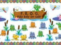 Christian Frog Themed Bible School and Sunday School Bulletin Board Idea