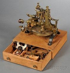 Watchmaker; Wheel Cutting Engine, Brass, Swiss, Accessories, 16 inch.