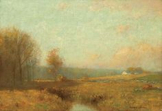 """''The Afternoon Sun,'' Bruce Crane, oil on canvas, 14 x 20"""", private collection."""