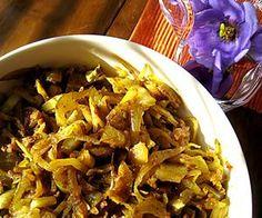 Punjabilainen kaali | Reseptitaivas Japchae, Vegetarian Recipes, Curry, Beef, Chicken, Ethnic Recipes, Meat, Curries, Vegetarische Rezepte