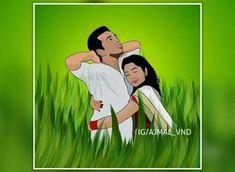 Love Cartoon Couple, Cute Couple Art, Cute Love Cartoons, Anime Love Couple, Cute Love Images, Cute Love Gif, Cartoon Maker, Bengali Art, Art Mignon
