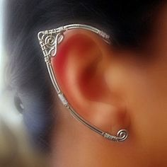 You don't need any piercings to wear these ear-wraps, just slide them on! They would be great for a special costume or for cosplay.