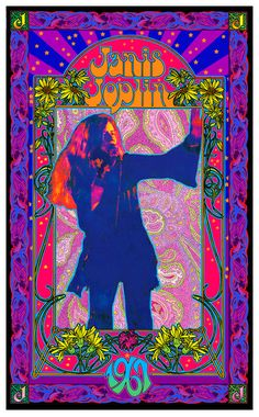 Janis Joplin psychedelic poster