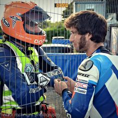 Dr John Hinds and Guy Martin