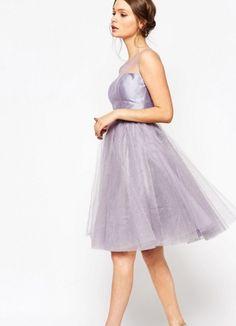 Chi Chi London Wieczorowa sukienka z tiulu fioletowa