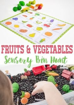 and Vegetable Hunt Farm Sensory Bin This farm sensory bin and fruits & vegetables sensory hunt is a super fun way to learn about fruits & veggies while working on matching and language skills.This farm sensory bin and fruits & vegetables sensory hunt is a Preschool Garden, Preschool Themes, Preschool Learning, Teaching, Preschool Ideas, Learning Activities, Preschool Food Crafts, Preschool Cooking, Daycare Themes