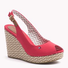Shop Tommy Hilfiger signature style and enjoy discounted items during our Winter sale. Wedge Sandals, Wedge Shoes, Shoes Heels, Cute Shoes, Me Too Shoes, Heeled Boots, Shoe Boots, Espadrilles, Creative Shoes