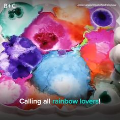 Pump up the color in your life with rainbow resin art!
