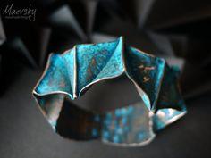 Fold Formed Copper Bracelet by Maevsky on Etsy