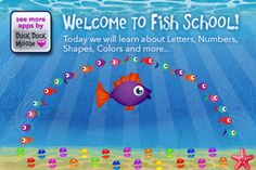 This app is a playful underwater experience filled with 8 educational activities, this award-winning app teaches children letters, numbers, shapes and colors with colorful fish and friendly sea life characters. Educational Activities, Learning Activities, Teaching Kids, Kids Learning, Best Math Apps, Duck Duck Moose, Toddler Apps, Classroom Tools, Classroom Ideas