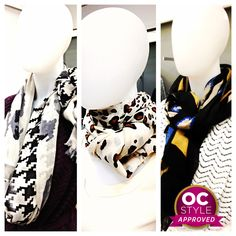 One long scarf can be tied multiple ways to create dramatically different effects! - Oshawa Centre Style Approved by @Stephanie Lareau - Find it at Hudson's Bay Company