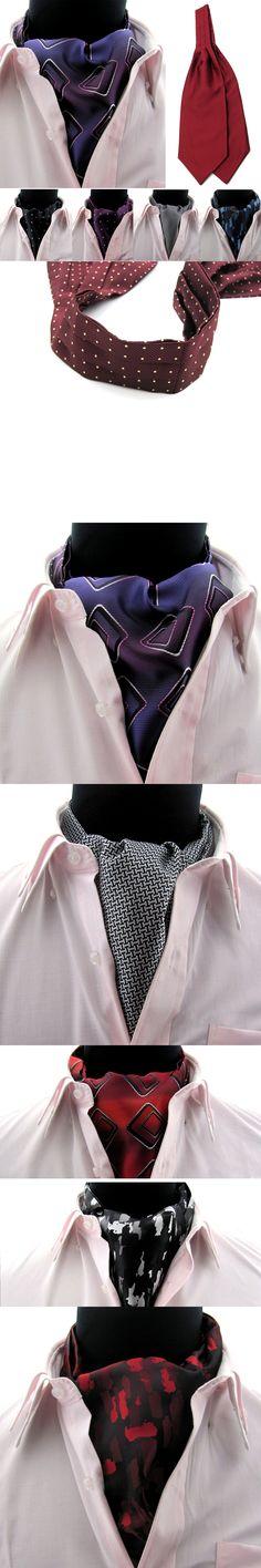Men Polka Dots Checks Plaids Camouflage Wedding Party Cravat Ties Ascot BWTYY0051