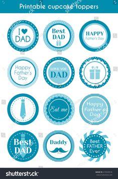 Happy Birthday Papa Cake, Happy Fathers Day Cake, Fathers Day Cupcakes, Happy Fathers Day Greetings, Happy Fathers Day Images, Happy Birthday Printable, Father's Day Printable, Father's Day Greetings, Father's Day Stickers