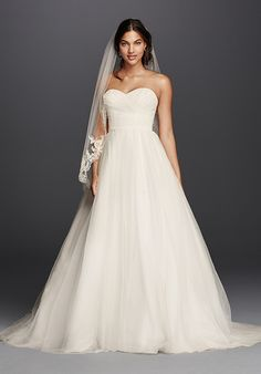 Tulle Ball Gown with Sweetheart Neckline and Chapel Train  9da1e30dbe39