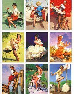 $3.56 (Buy here: http://appdeal.ru/3wkd ) 16pcs/lot Master Girl Elvgren's United States nostalgic poster girl postcards / Pretty woman / 102*142mm for just $3.56