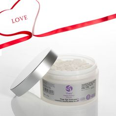 A luxurious hydrating body scrub with shea butter enriched with lavender and it smells just divine. http://www.theaskincare.com/natural-skin-care/natural-body-care-products/dry-skin-lavender-souffle-body-foot-scrubs-200grams
