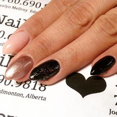 Really #awesomenails for Jeni with a subtle twist for New Years. Very chic. #beauty #cndshellac #chiffontwirl #vinylux for stamping #newyearsnails #nyenails #nye #dopenails #dopechick #edmontonnails #edmontonshellac #edmontonacrylicnails #happyhands #jocelynnailedit #nudenails #nsipolishpro #nailove #pointynails #kittennails #radnails #yegnails #yegacrylics