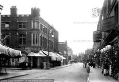 Cowgate, #Peterborough, 1904. The 'gates' at the end of road names such as Cowgate and Westgate – both of which came into being at this time – are derived from 'gaeta', the Danish word for 'street'. #history #photography #cambridgeshire