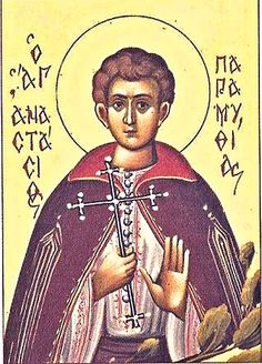 St. Anastasios of Paramythia: Musa  the governor's son was struck by the beauty of Anastasius' sister & tried to seize her, but Anastasius fought the Turks for his sister to escape. Musa's father had Anastasius arrested & enforced him to convert to Islam, he didn't. He endured many tortures, Musa visited him in jail & saw two angels next to the St., he wanted to convert immediately, told him not to until he passes. The St. was beheaded & Musa became Christian & took monastic name of Daniel