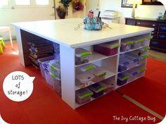 DIY Crafting Table :: Hometalk#