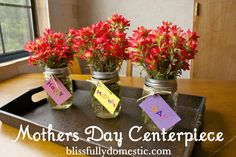 DIY Mother's Day : DIY Mothers Day Centerpiece