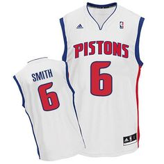 Revolution 30 Pistons  6 Josh Smith White Embroidered NBA Jersey! Only   18.50USD 412f36e1601