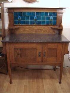 Oak washstand by Harris Lebus