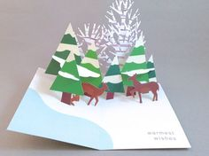 MoMA Pop-Up Forest Boxed Holiday Cards by Robert Sabuda
