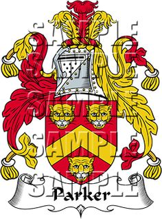 Parker Family Crest apparel, Parker Coat of Arms gifts