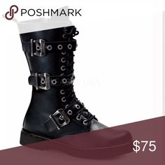 RIVAL 303 Gothic Punk Demonia USA Boots Stiefel