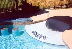 pool tile | Hibiscus Swimming Pool Tile